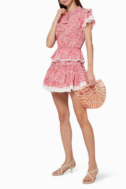 hover state of Lilian Ruffled Dress