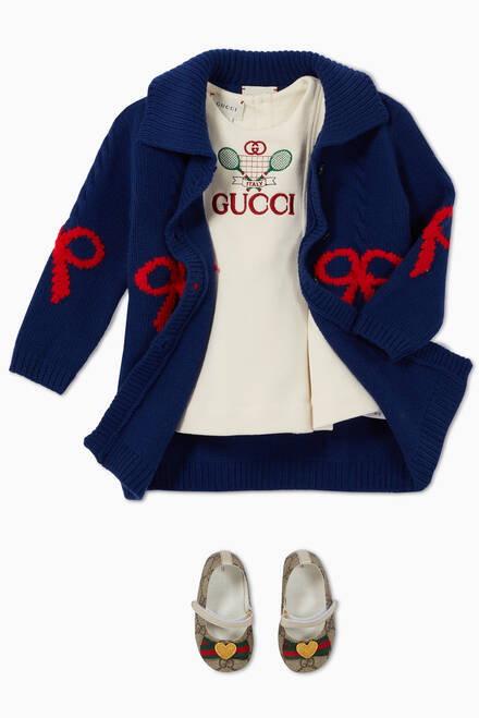 hover state of Gucci Tennis Embroidered Dress