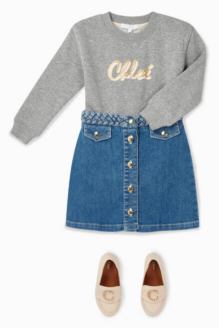 hover state of Denim Mini Skirt