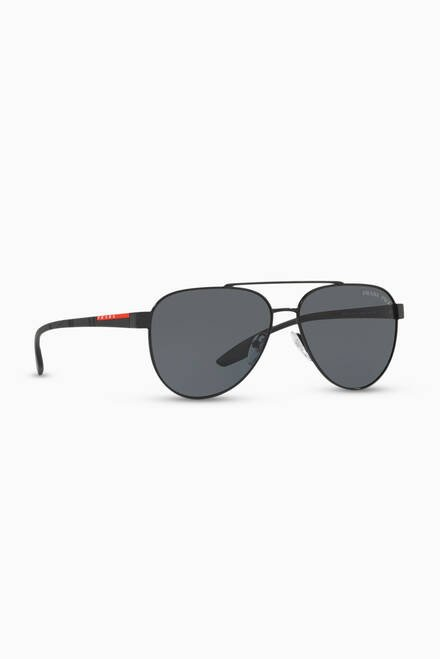 hover state of Stubb Aviator Sunglasses in Metal