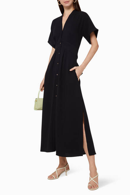 hover state of Ines Cotton Shirt Dress