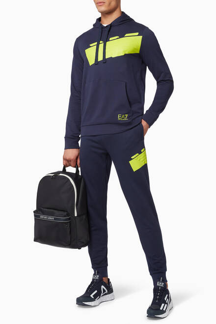 hover state of EA7 Eagle Graphic Jersey Sweatpants