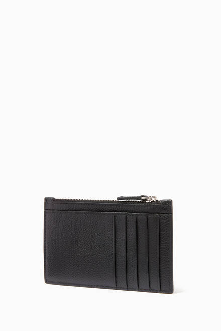 hover state of Cash Long Card Holder in Grained calfskin