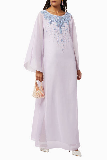 hover state of Embroidered Linen Kaftan
