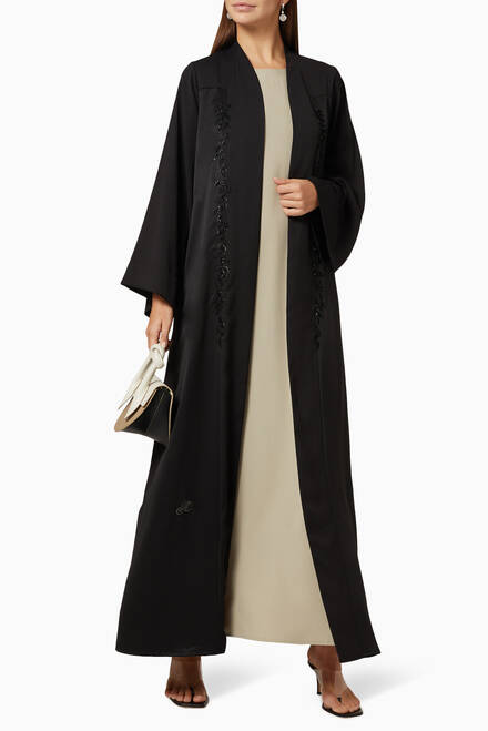 hover state of Bead Embellished Abaya Set