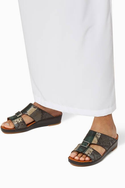 hover state of Quadratura Sandals in Python Leather