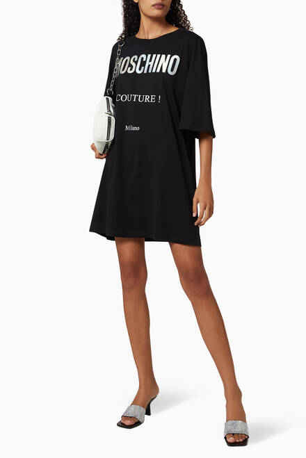 hover state of Holographic Logo Jersey Dress