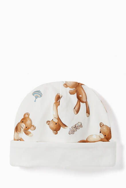 hover state of Teddy Bear Cotton Baby Hat