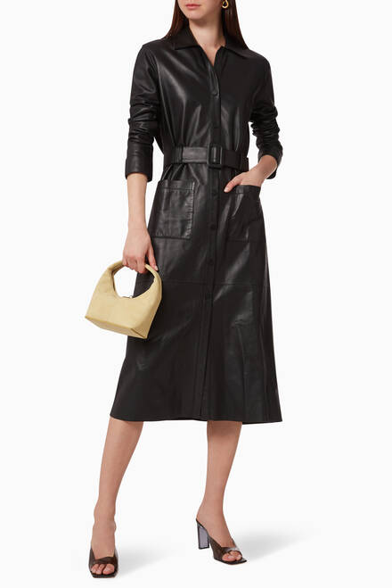 hover state of Birkin Midi Leather Dress