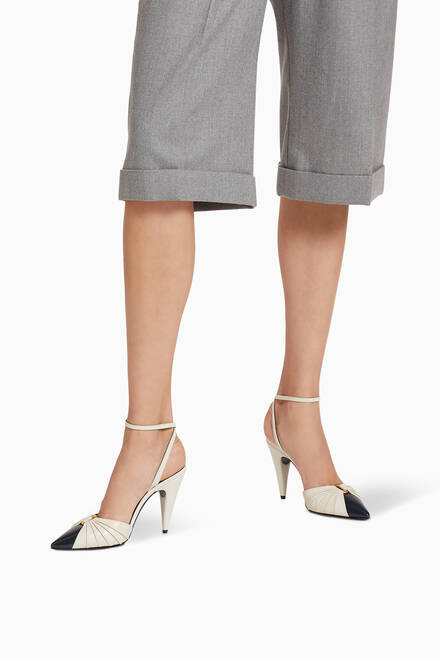 hover state of Alma Slingback Pumps in Smooth Leather