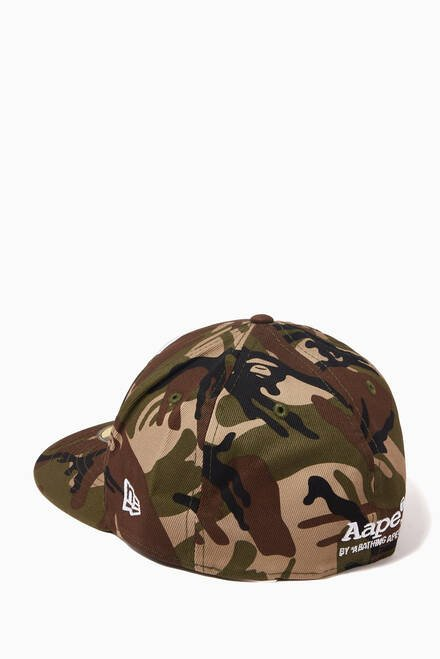 hover state of Logo Embroidered Camo Cap in Canvas