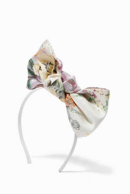 hover state of Origami Polka Dot Bow Headband