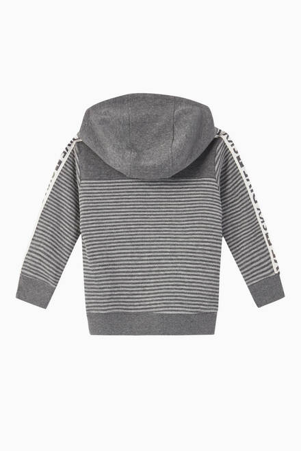 hover state of Storm Striped Jersey Hoodie