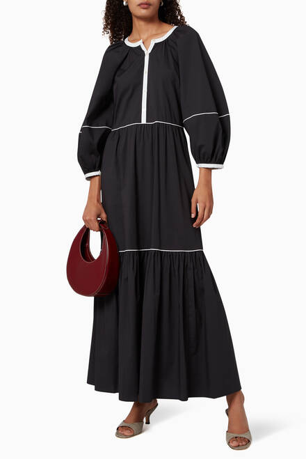 hover state of Demi Poplin Maxi Dress