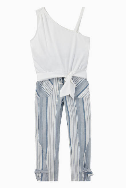 hover state of Adalyn Paper Bag Stripe Pant