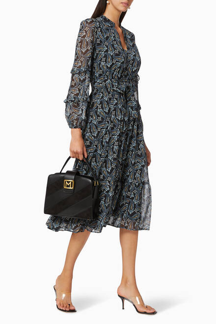 hover state of Lina Paisley Printed Dress