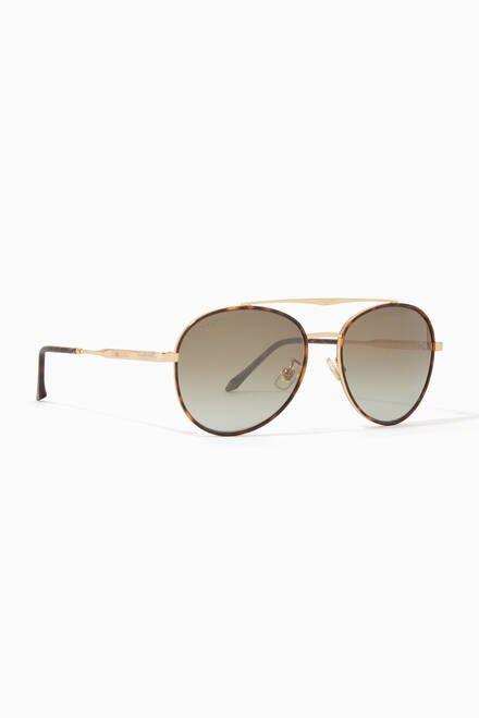 hover state of Heritage Aviator Sunglasses