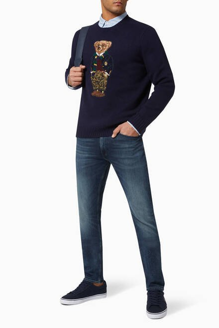 hover state of Preppy Polo Bear Wool Jumper