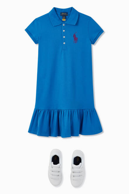 hover state of Big Pony Cotton Mesh Polo Dress