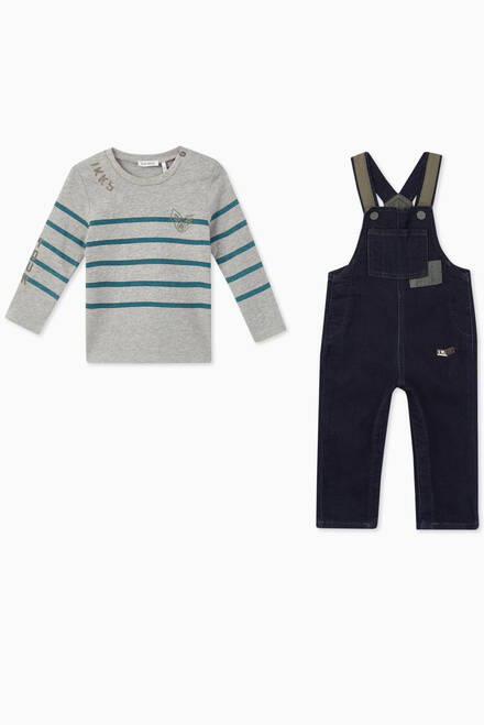 hover state of 2-in-1 T-Shirt & Dungarees