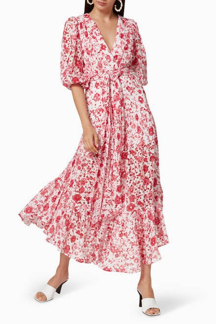 hover state of Charlotte Printed Cotton Dress