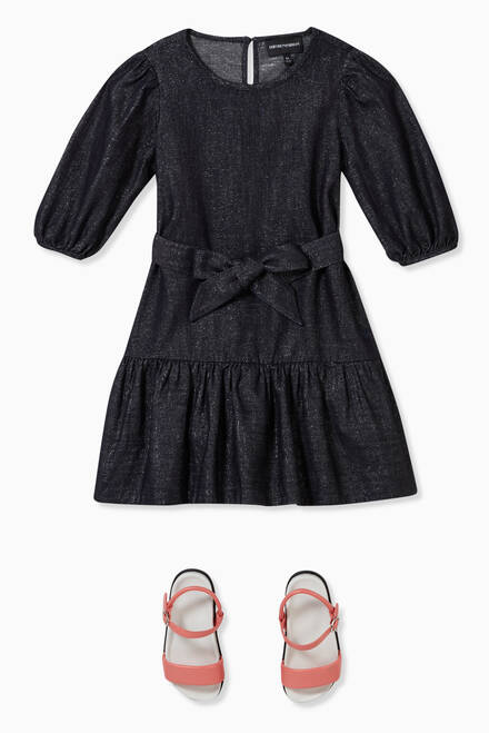 hover state of Lurex Denim Dress