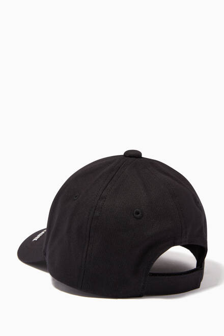 hover state of EA Text Baseball Cap in Cotton