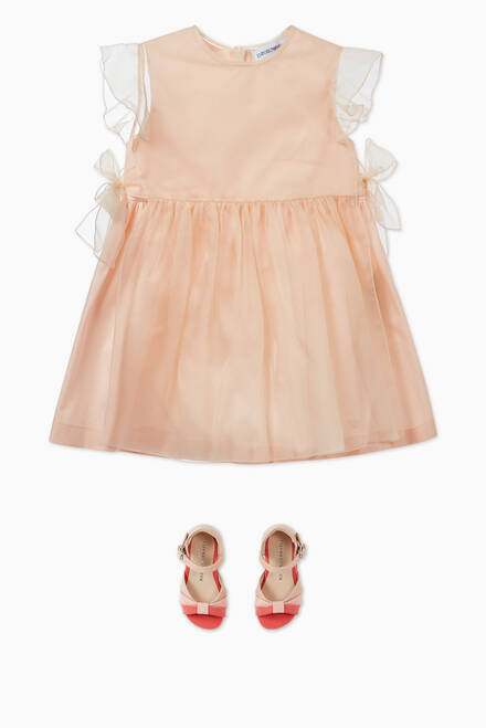 hover state of Bow Detail Organza Overlay Dress