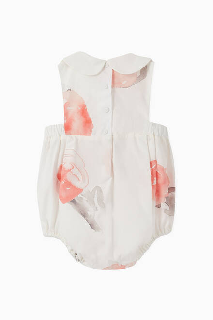 hover state of Macro Rose Cotton Poplin Romper