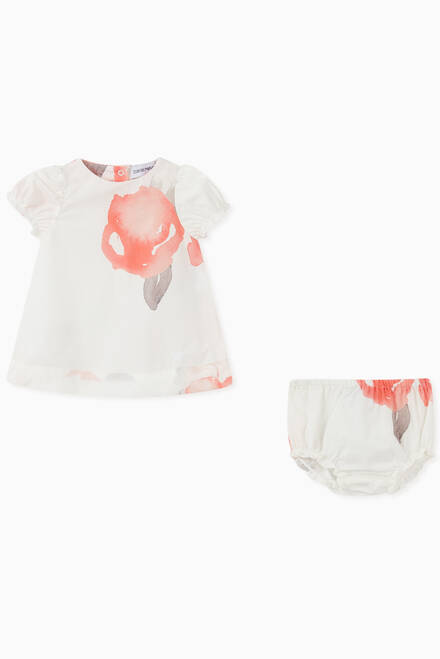 hover state of Macro Rose Cotton Top, Shorts & Headband Set