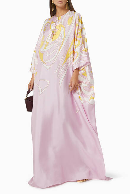 hover state of Dinamica Print Silk Twill Kaftan