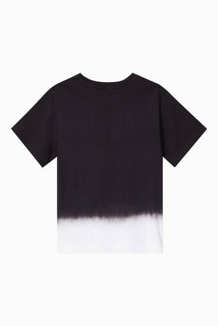 hover state of Dip-Dye Logo Print T-Shirt