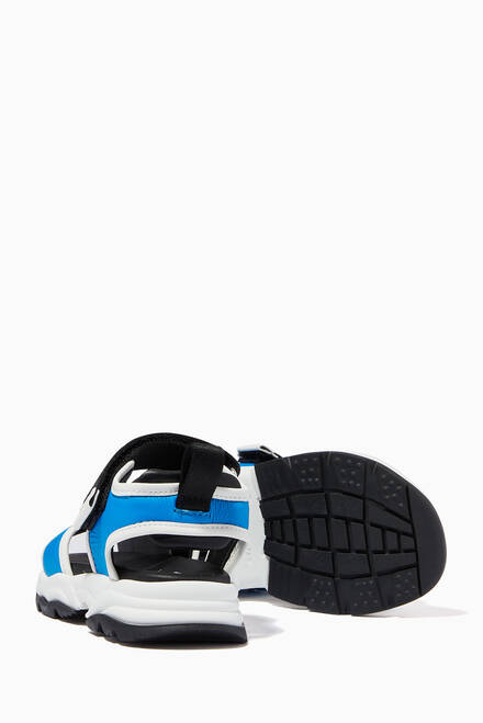 hover state of Logo Velcro Sandals in Faux Leather