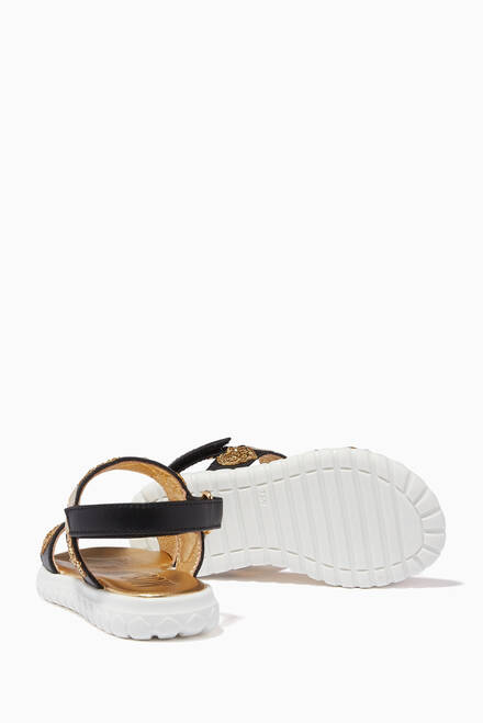hover state of Logo Hearts Velcro Sandals in Leather