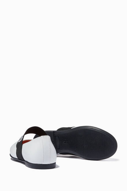 hover state of Logo Band Ballerinas in Leather