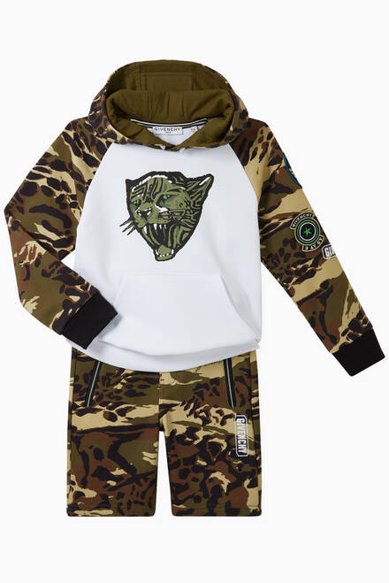 hover state of Tiger Camo Cotton Jersey Hoodie