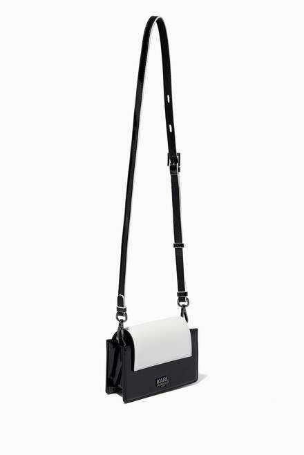 hover state of Karl Shoulder Bag in Faux Leather