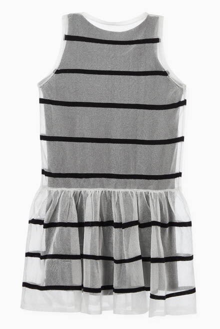 hover state of Striped Dress in Cotton-blend Jersey