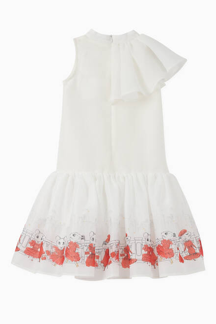 hover state of Claris the Mouse Printed Frill Dress