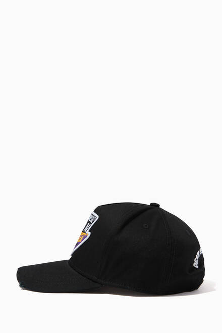 hover state of Icon Split Patch Embroidered Cap in Cotton