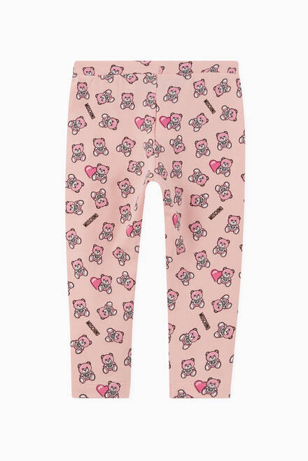 hover state of Teddy Bear Heart Print Leggings