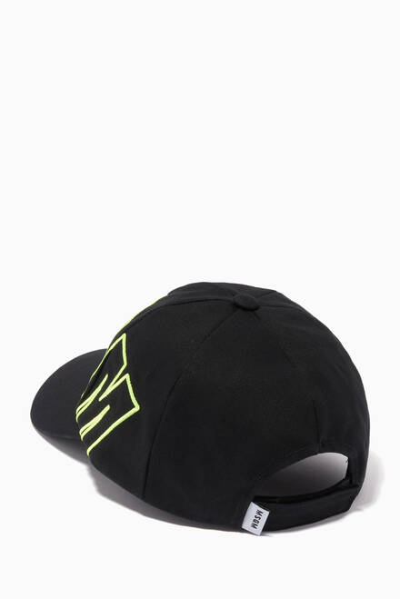 hover state of Logo Text Baseball Cap in Cotton