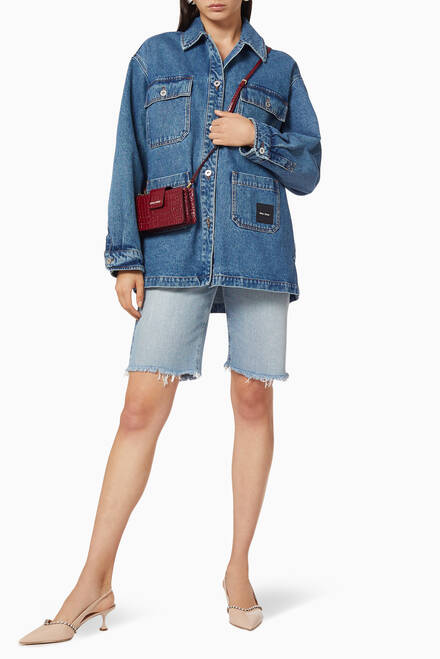 hover state of Denim Oversized Blouson Jacket