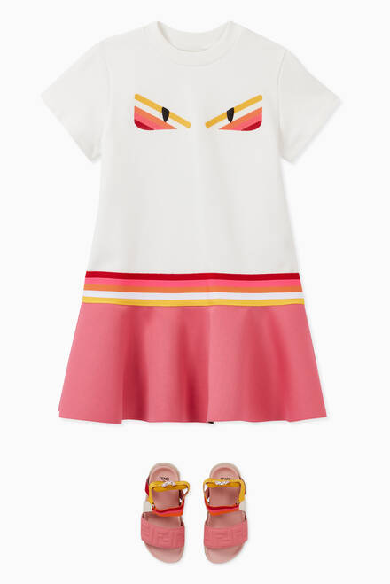 hover state of Monster Eyes Dress in Cotton Jersey