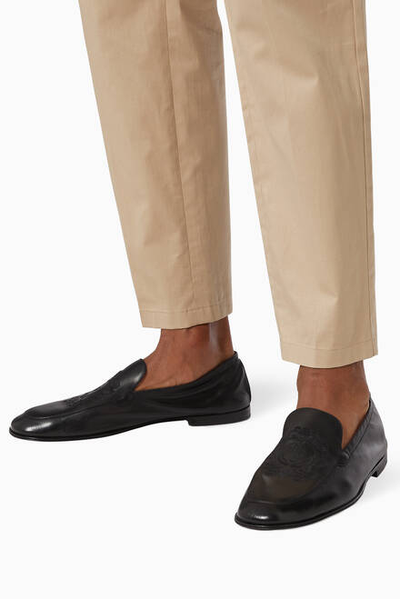 hover state of Ariosto DG Crest Loafers in Leather