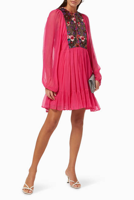 hover state of Zahia Chiffon Dress