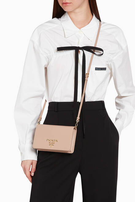 hover state of Mini Crossbody Bag in Saffiano Leather