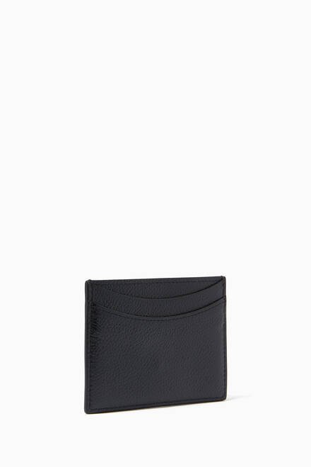 hover state of Hourglass Card Holder in Grained Calfskin