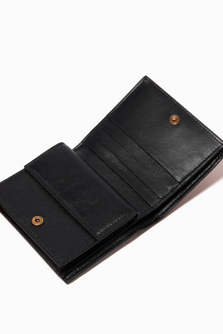 hover state of Neo Classic Flap Coin & Card Holder in Grained Calfskin