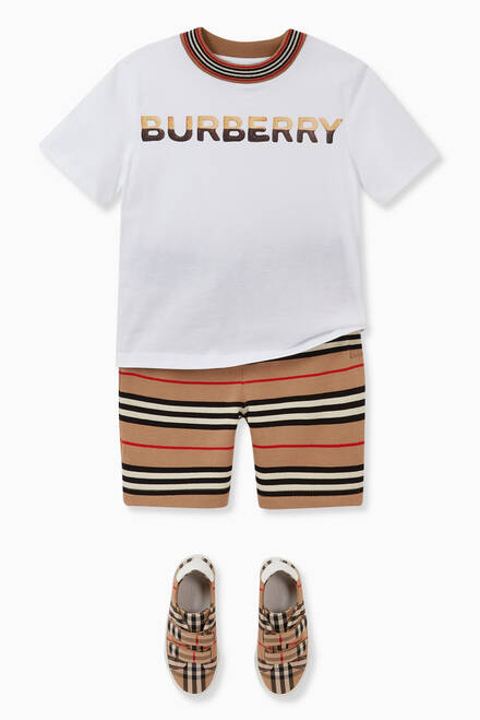 hover state of Icon Stripe Cotton Shorts